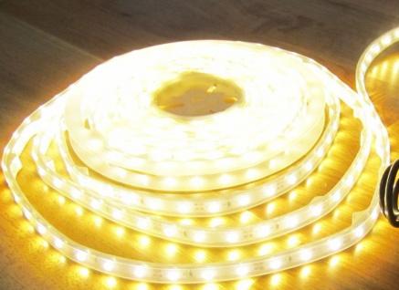 1250 Lumen 5m LED Streifen 300 LED warmweiß warm weiss weiß wasserfest IP65 24Volt PRO-Serie ohne Netzteil