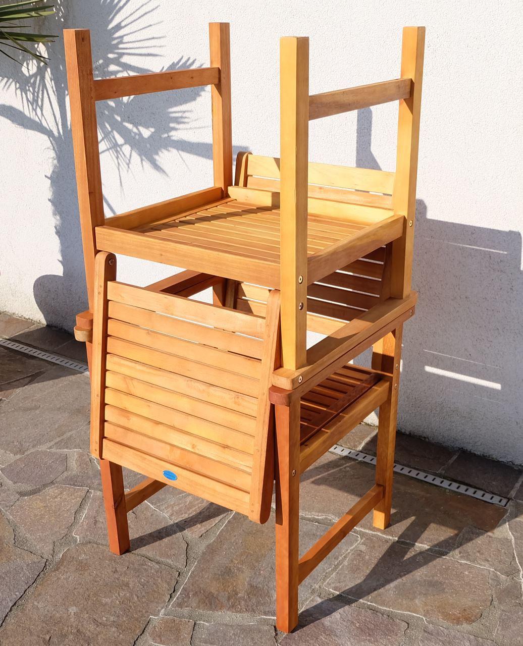 design gartenstuhl saria eu aus eukalyptus wie teak. Black Bedroom Furniture Sets. Home Design Ideas