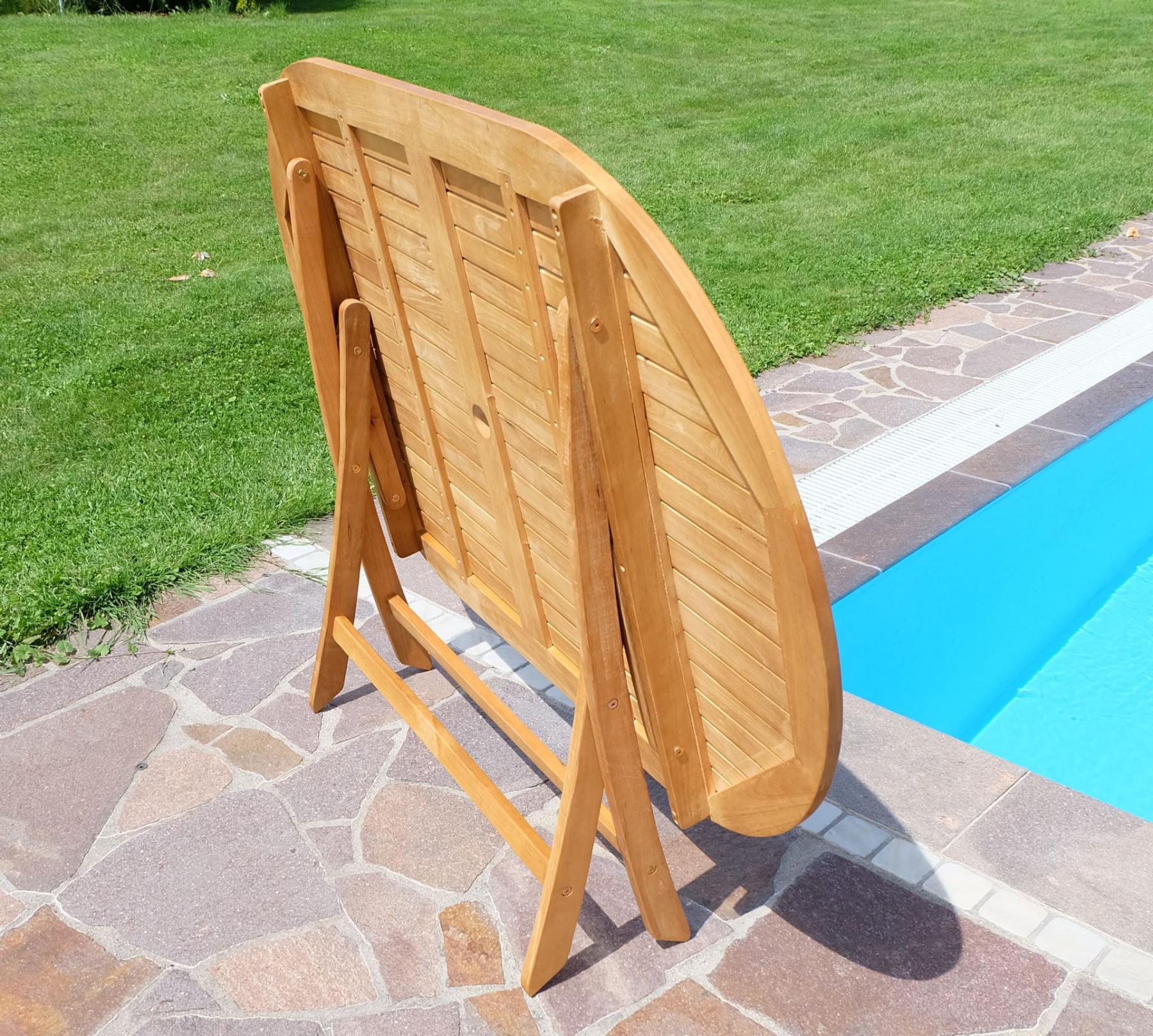 Luxus Gartentisch Holz Metall Design