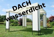 Eleganter Gartenpavillon Pavillon 3x3 Meter, Dach 100% wasserdicht UV30+, Model: 7074-WP