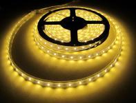 LED STRIP STRIPE STREIFEN LEISTE 300 LED 5mt warmweiß warm weiss weiß, wasserfest IP65, 12Volt (ohne Netzteil), 1250Lumen