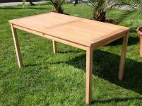 TEAK XL Gartentisch 120x70cm ALPEN