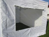 Seitenteil mit Fenster verschließbar für Profi Faltzelt 3x3mt weiß feuerhemmend