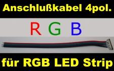 Anschlußkabel für RGB LED Strip 4-pol. Schnellverbinder