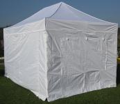 3x4, 5m ALU Profi Faltzelt Marktzelt Marktstand Tent 40mm QUAD mit Metallgelenken und FEUERHEMMENDEN PLANEN