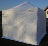 3x3m Profi Faltzelt Marktzelt Marktstand Tent 50mm Hex ALU mit Metallgelenken und FEUERHEMMENDEN PLANEN