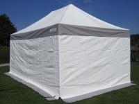 3x4, 5m ALU Profi Faltzelt Marktzelt Marktstand Tent 50mm Hex mit Metallgelenken u. PVC PLANEN FEUERHEMMENDEN