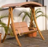 Design Hollywoodschaukel RIO aus Holz Lärche mit Dach