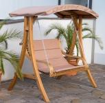 Design Hollywoodschaukel BELIZE aus Holz Lärche mit Dach Modell