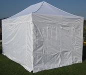 3x4, 5m ALU Profi Faltzelt Marktzelt Marktstand Tent 40mm HEX mit FEUERHEMMENDEN PLANEN