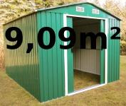 Gartenhaus Geräteschuppen 9, 09m² aus verzinktem Stahlblech Metall grün