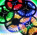 RGB LED Strip Streifen 150x LED SMD 5050 IP20 RGB 5mt 12Volt 36Watt