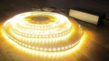 SET HIGH POWER LED Streifen Stripe Strip 10mt warmweiß weiß 1200LED inkl. Netzteil (Pro-Serie) TÜV/GS geprüft 24V, 5320Lumen