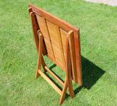 B-Ware klappbarer Gartentisch 70x70cm aus Eukalyptus wie Teak