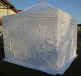 3x3m ALU Profi Faltzelt Marktzelt Marktstand Tent 40mm QUAD mit Metallgelenken und FEUERHEMMENDEN PLANEN