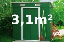 Gartenhaus Geräteschuppen 3, 1m² aus verzinktem Stahlblech Metall grün