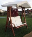 """Design Hollywoodschaukel """" KUREDO 103"""" aus Holz Lärche mit Dach"""