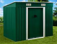 Geräteschuppen 2, 38x1, 31m Gartenhaus aus verzinktem Stahlblech Metall grün