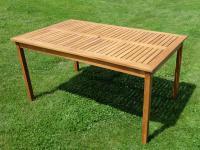 """B-Ware-XL Holztisch150x90cm """" SARIA-EU"""" aus Holz Eukalyptus geölt wie Teak"""