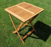 klappbarer Gartentisch 60x60cm aus Eukalyptus wie Teak
