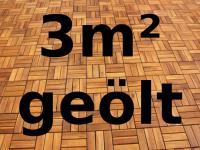 3m² Holzfliese Holzfliesen Terrassenfliese Terrassenfliesen Akazie Holz 30x30cm mit 12 Latten