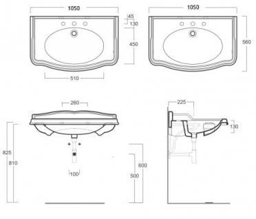 waschbecken mi konsole einloch f r dreilocharmatur vorgesehen ohne armaturen kaufen bei. Black Bedroom Furniture Sets. Home Design Ideas