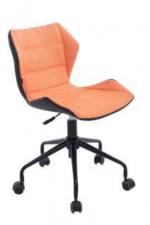 Bürostuhl orange Stoffbezug Bürosessel robust günstig preiswert Chefsessel