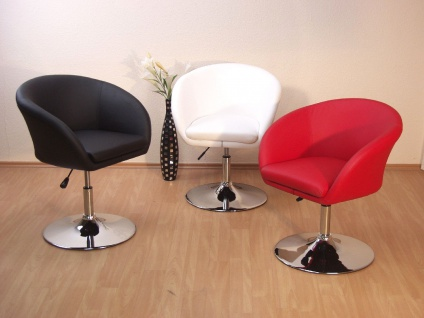 drehsessel lounge chair drehbar hocker sessel drehstuhl braun schwarz wei rot kaufen bei go. Black Bedroom Furniture Sets. Home Design Ideas