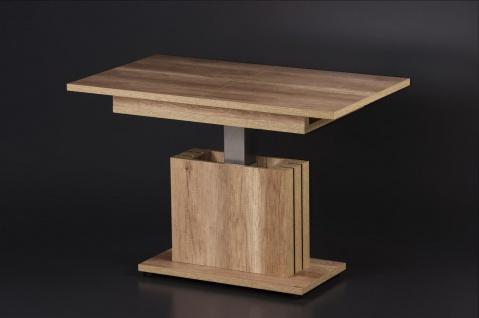 moderner Couchtisch nußbaum ausziehbar edler Sofatisch Auszugtisch hochwertig