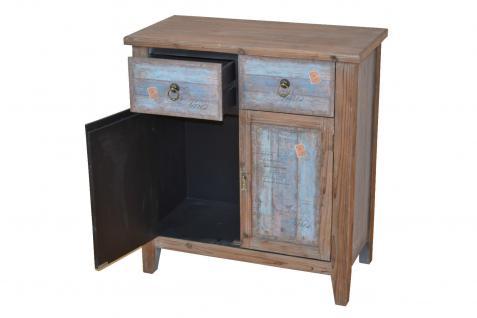 kommode massiv braun blau schrank vintage schubkommode schubkastenkommode antik kaufen bei go. Black Bedroom Furniture Sets. Home Design Ideas