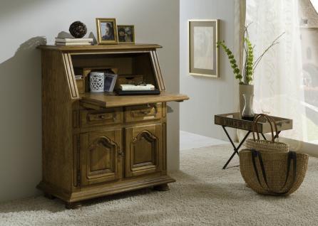 Schreibtisch eiche massiv g nstig kaufen bei yatego for Schreibtisch rustikal