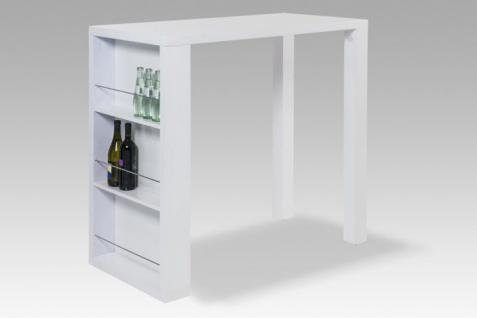 bartisch hochglanz wei stehtisch tisch esstisch k chentisch regale modern neu kaufen bei go. Black Bedroom Furniture Sets. Home Design Ideas