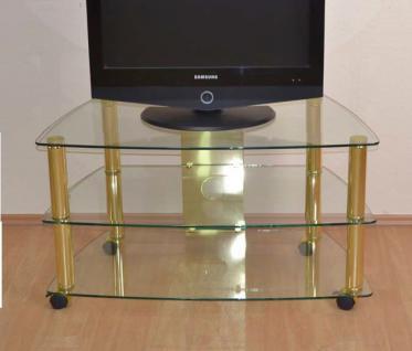 messing phonowagen mit rollen tv tisch tv rack fersehtisch glastisch. Black Bedroom Furniture Sets. Home Design Ideas