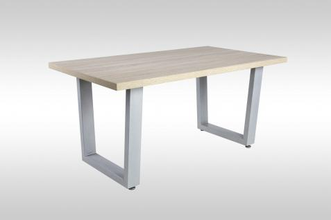 Tisch kufe g nstig sicher kaufen bei yatego for Moderner design couchtisch pull sonoma eiche hochglanz weiss 120 cm