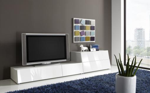 tv board weiss hochglanz g nstig kaufen bei yatego. Black Bedroom Furniture Sets. Home Design Ideas