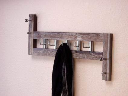 wandgarderobe garderobe kleiderhaken kleiderstange massiv. Black Bedroom Furniture Sets. Home Design Ideas