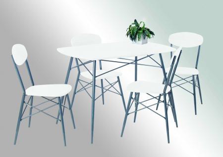 metall tisch wei g nstig online kaufen bei yatego. Black Bedroom Furniture Sets. Home Design Ideas