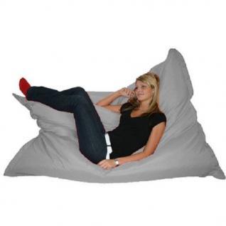 Riesensitzsack Sitzsack Sitzkissen XXL Riesen Sitz Sack Sofa 140 180 cm grau