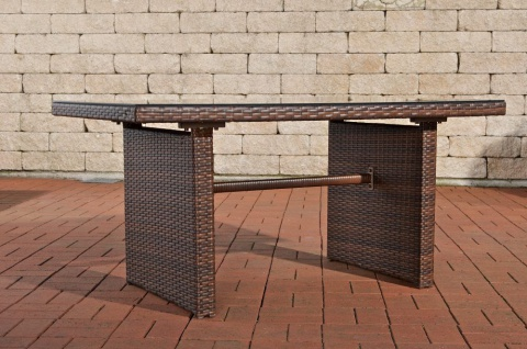 tisch braun gartentisch garten rattan terrassentisch rattantisch glastisch neu kaufen bei go. Black Bedroom Furniture Sets. Home Design Ideas