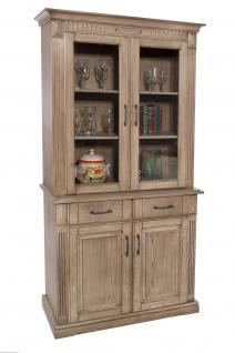 vitrinenschrank eiche massiv g nstig online kaufen yatego. Black Bedroom Furniture Sets. Home Design Ideas