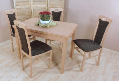 Tischgruppe massivholz Buche natur schoko Auszugtisch Stuhlset Stühle Tisch neu