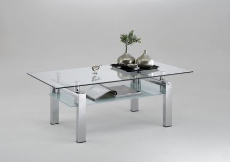 Design tische glas g nstig online kaufen bei yatego for Wohnzimmertisch chrom glas