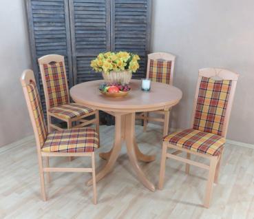 moderne Tischgruppe 5 teilig massiv natur gelb braun Essgruppe günstig preiswert