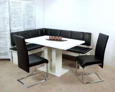 s ulentisch eckbanktisch wei esstisch esszimmertisch. Black Bedroom Furniture Sets. Home Design Ideas