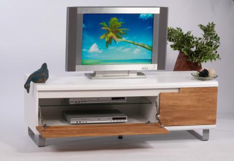 lowboard wildeiche wei tv board tv schrank hifi tisch tv rack modern design neu kaufen bei go. Black Bedroom Furniture Sets. Home Design Ideas