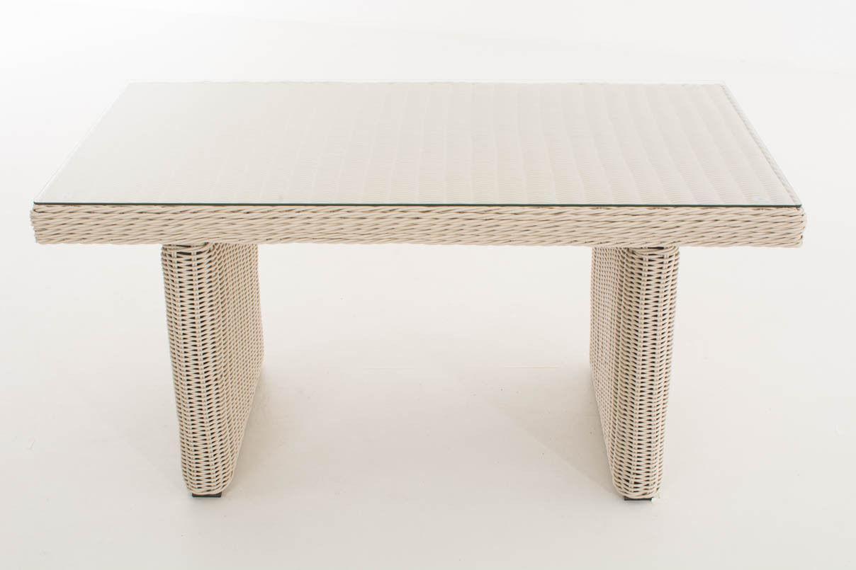 tisch wei gartentisch garten polyrattan terrassentisch. Black Bedroom Furniture Sets. Home Design Ideas