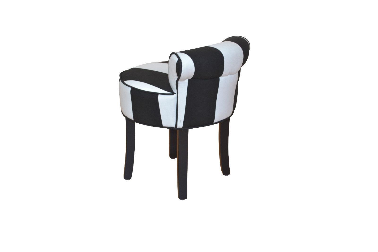 Hocker modern schwarz  Sitzhocker Stoff schwarz weiß Hocker Sitz Rückenlehne massiv ...