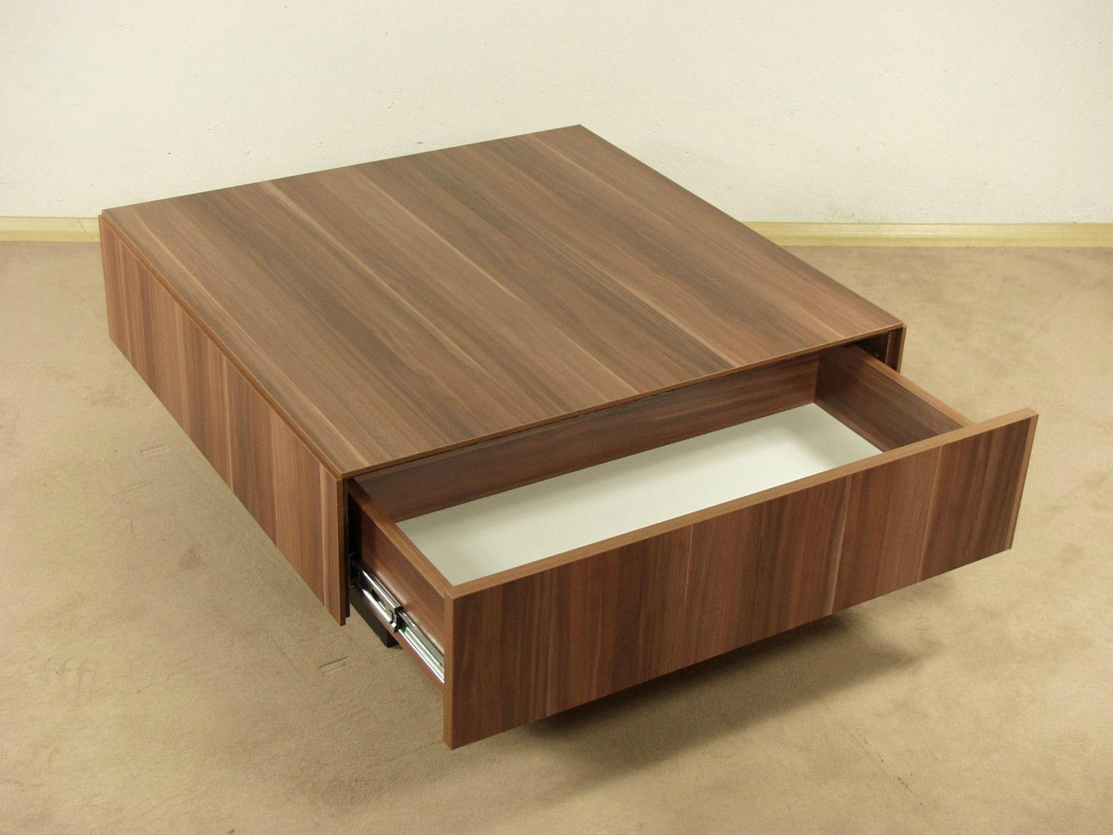 Couchtisch kernnuss tisch wohnzimmertisch sofatisch for Wohnzimmertisch designer