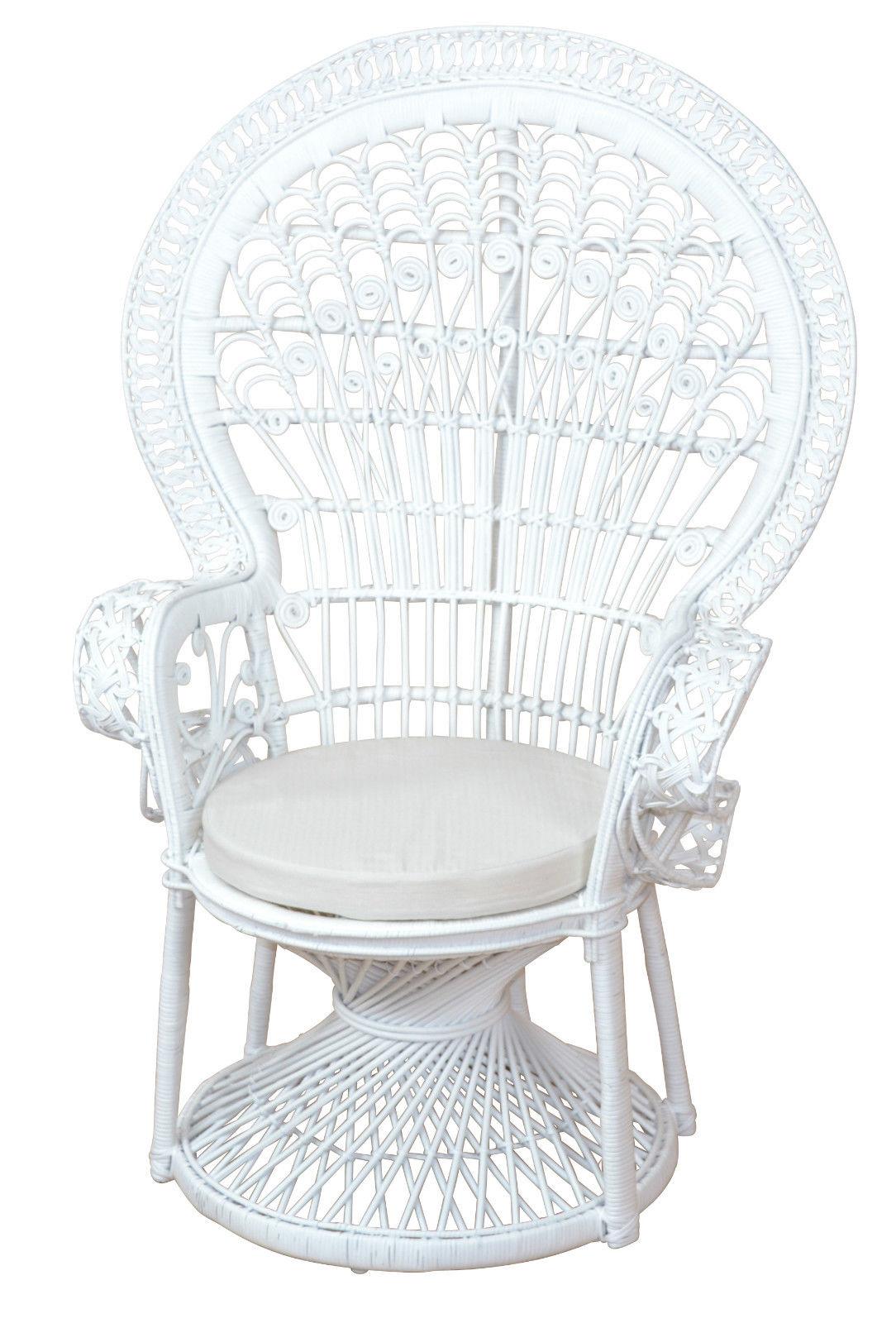 pfauenthron wei rattansessel sessel rattan rattanstuhl hochwertig handgeflochte kaufen bei go. Black Bedroom Furniture Sets. Home Design Ideas