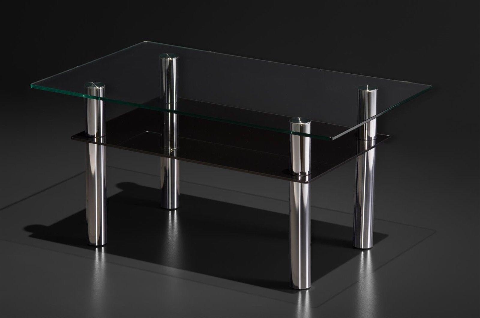 Couchtisch glastisch mit ablage design wohnzimmer modern design ...